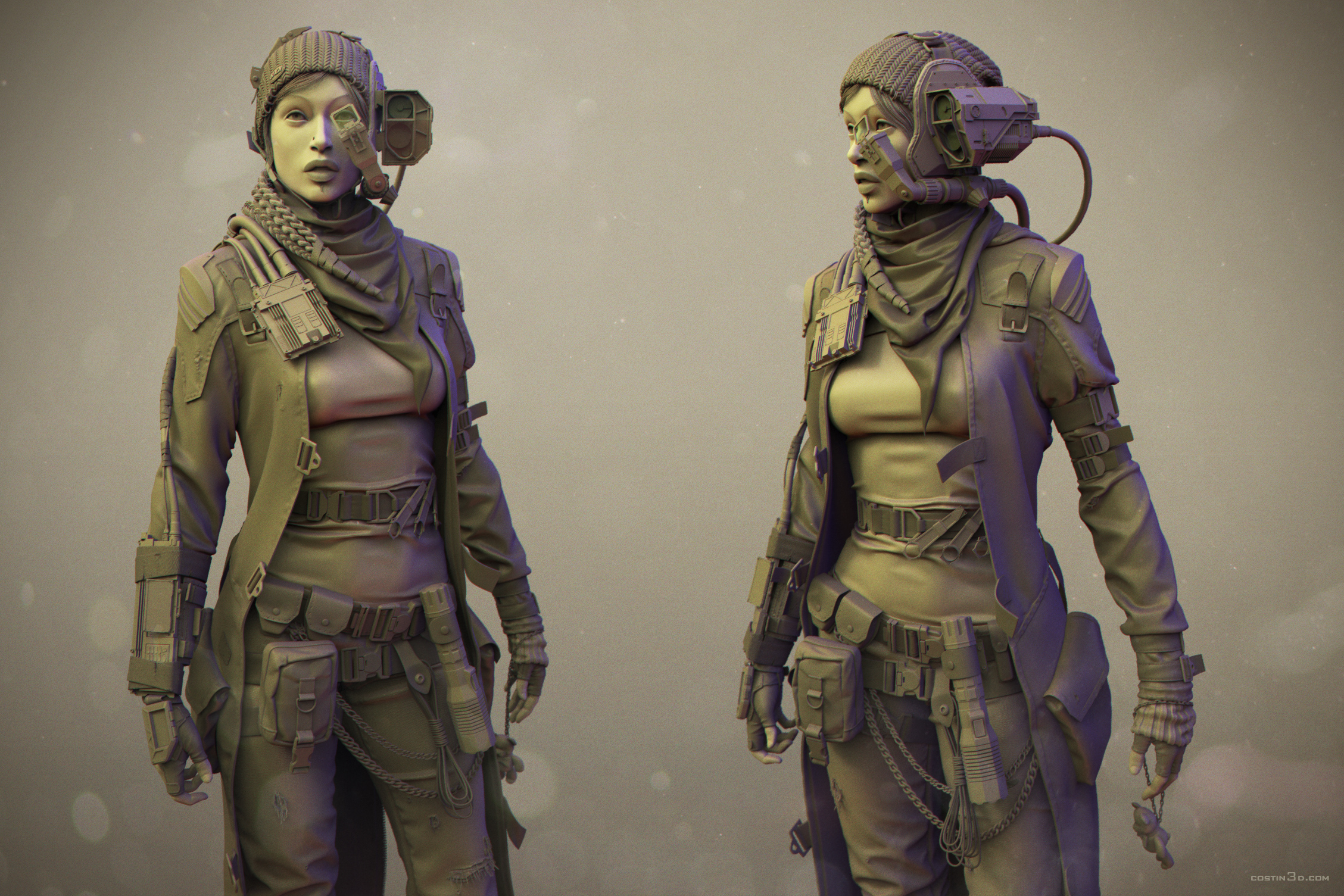 Sci Fi Character Design Tutorial : New characters — polycount